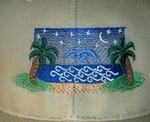 Embroidered Beach Design for Clothing