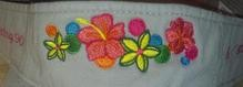 Embroidered Flower Design for Clothing & Accessories