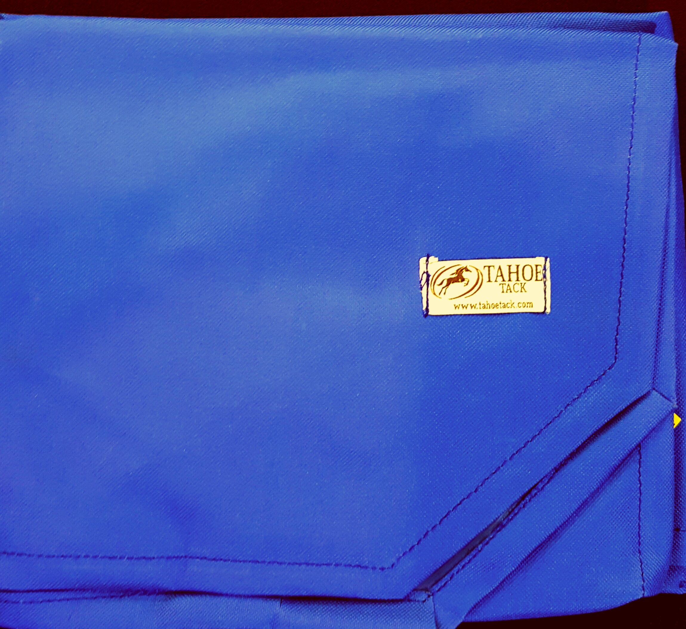 Blue Embroidered Saddle Pad Bags