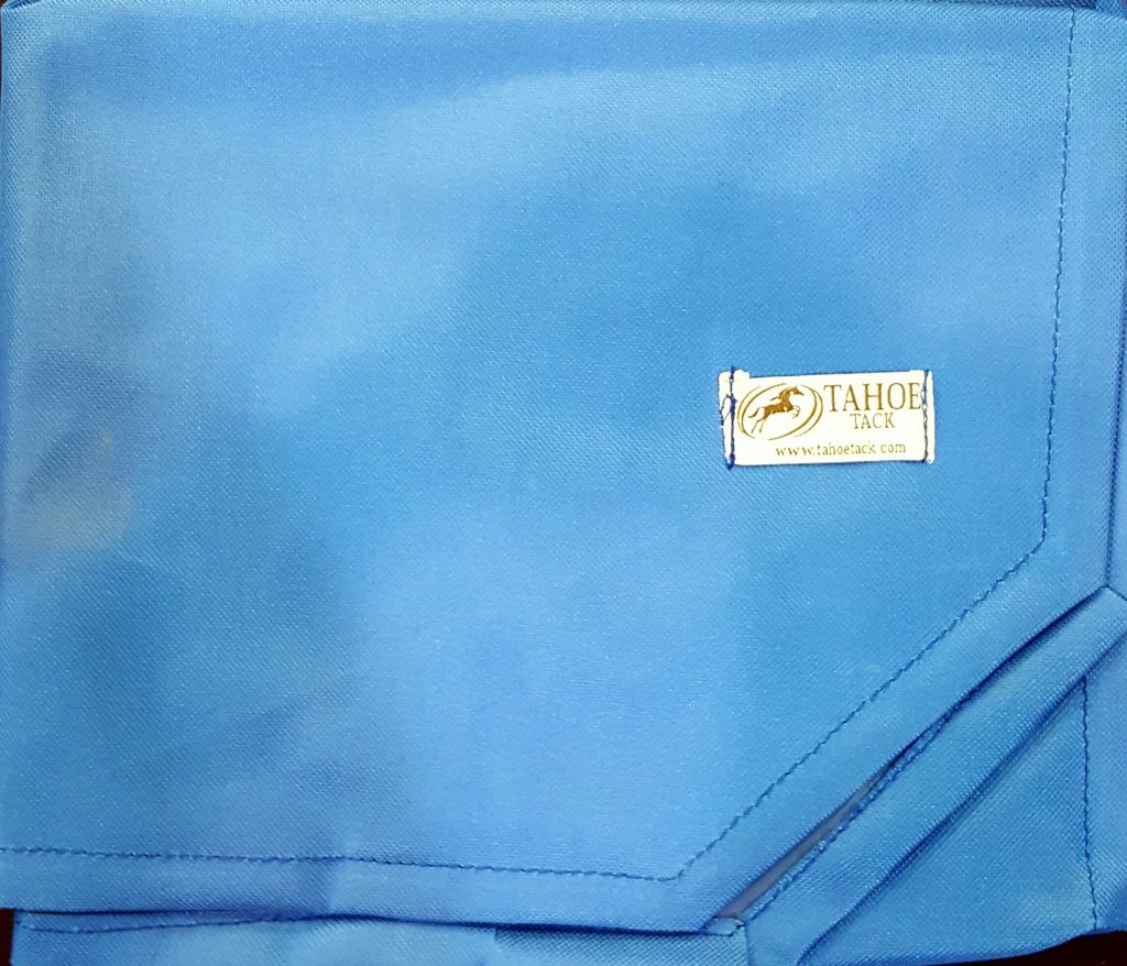 Light Blue Embroidered Saddle Pad Bags