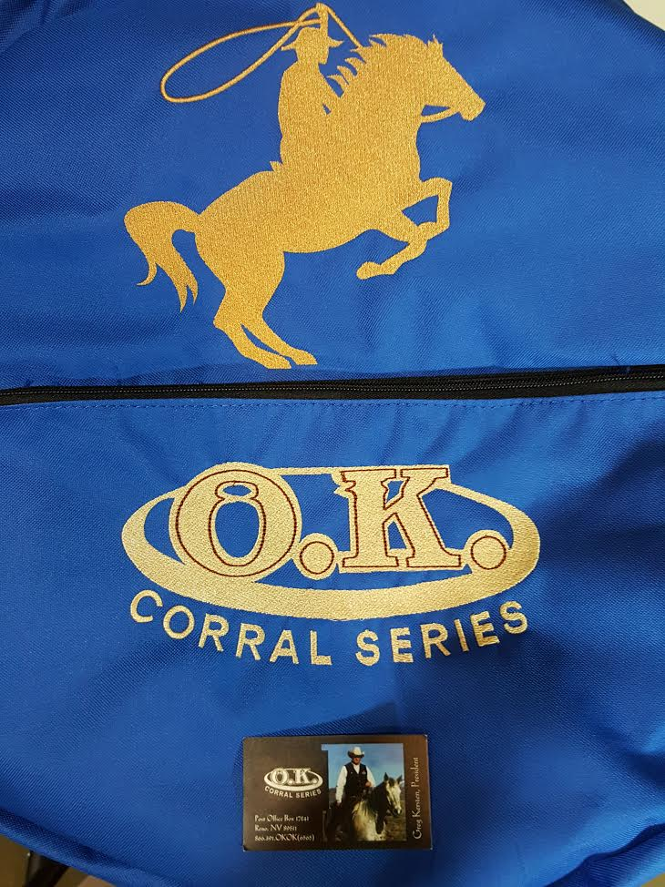 Blue Embroidered Roping Bag