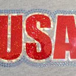 Team USA glitter & rhinestone decal design