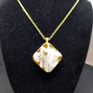Epoxy Resin Brown Diamond Pendant for Sale Online
