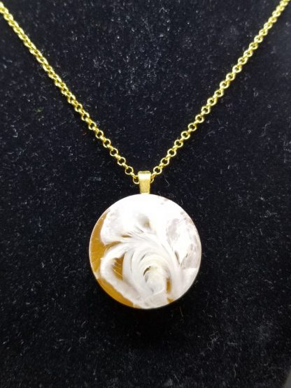 Round Brown Epoxy Resin Necklace for Sale Online