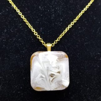 Brown Square Pendant Necklace for Sale Online